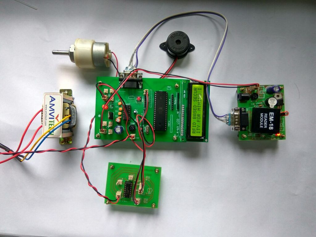 Rfid Based Security System For Mining Industries Access Control Using 8051 Electronic Circuits