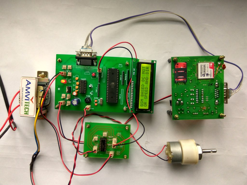 Gsm Based Dc Motor Speed And Direction Control