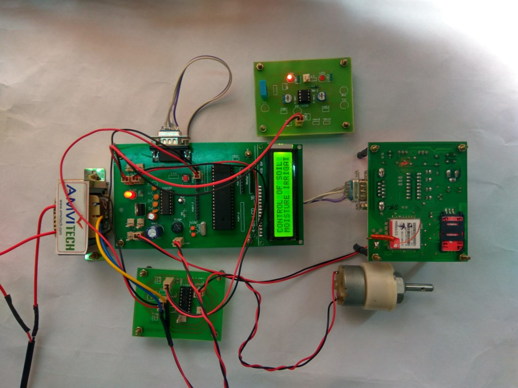 Control Of Soil Moisture Irrigation System Tester Circuit Schematic