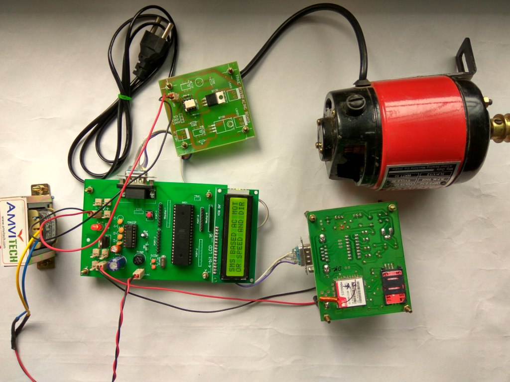 Sms Based Ac Motor Speed Control Controller Circuit Electronic How To Connect The
