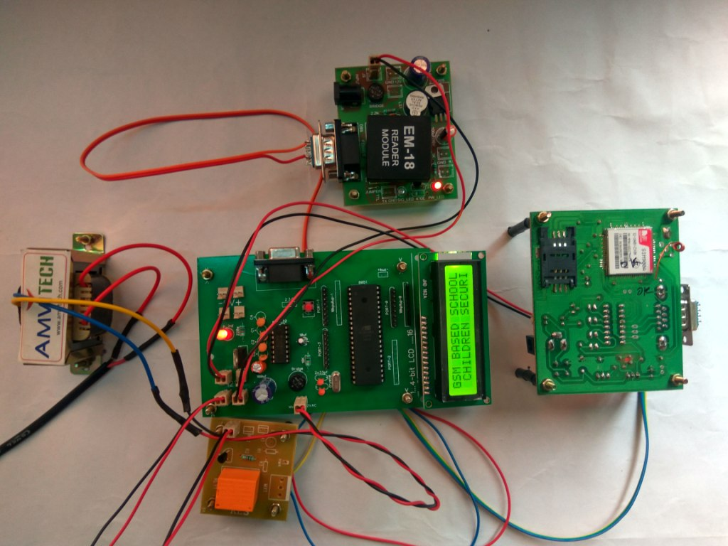 Electrical And Electronics Projects Pir Sensor Gsm Based Home Security System Using 8051 School Children On Rfid