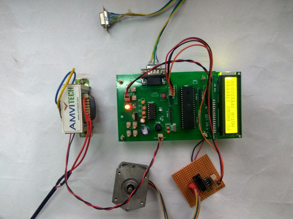 Pc based stepper motor speed and direction control for Stepper motor control software