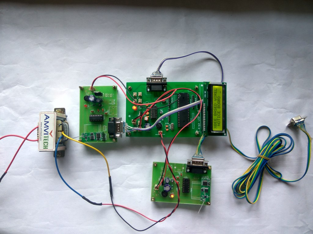wireless electronic notice board using zigbee